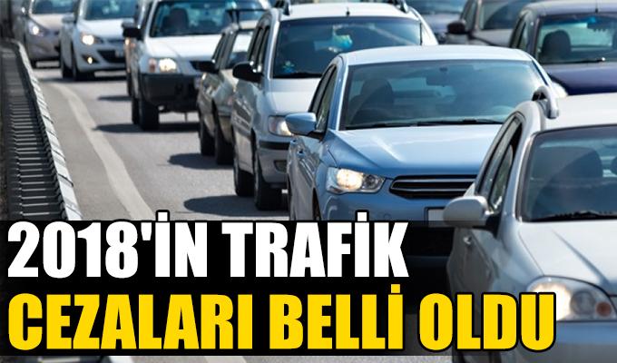 2018'in trafik cezaları belli oldu