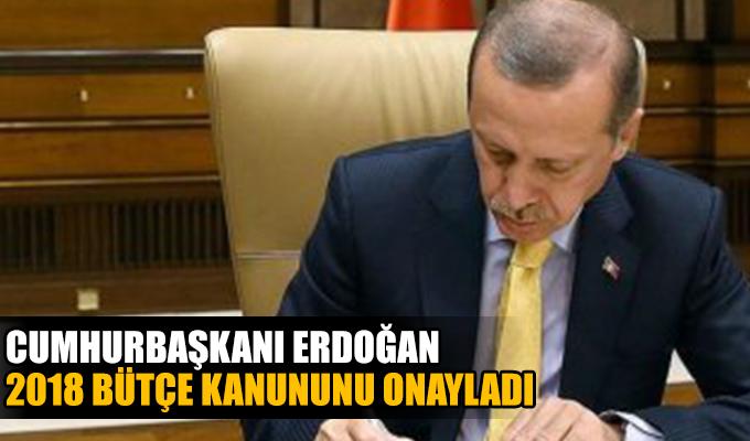 Erdoğan 2018 yılı Merkezi Yönetim Bütçe Kanunu'nu onayladı