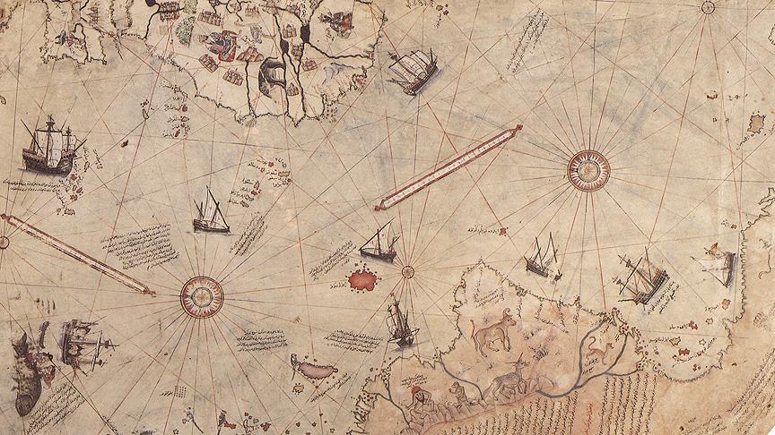 Piri Reis haritası kutuplarda pusula olacak