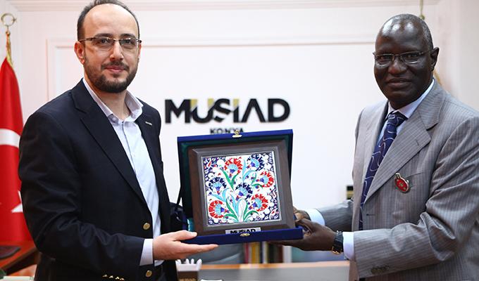 MÜSİAD Konya Şubesi  Nijerya Büyükelçisini ağırladı