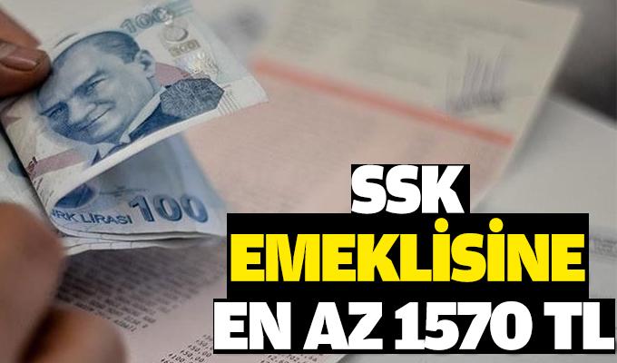 SSK emeklisine en az 1570 TL