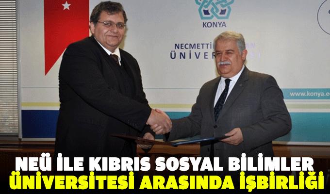 NEÜ İle Kıbrıs Sosyal Bilimler Üniversitesi arasında işbirliği