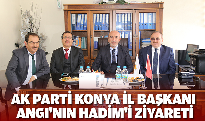 AK Parti Konya İl Başkanı Angı'nın Hadim'i ziyareti