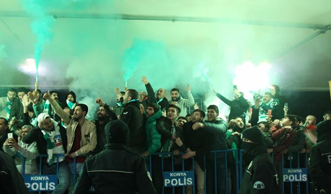 Konyaspor'a müthiş karşılama