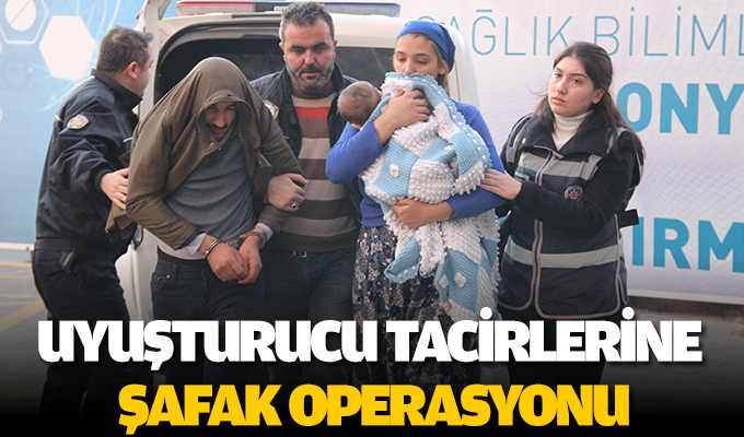 Konya'da Uyuşturucu tacirlerine şafak operasyonu