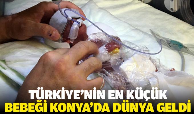 Konya'da 310 gram bebek dünyaya geldi
