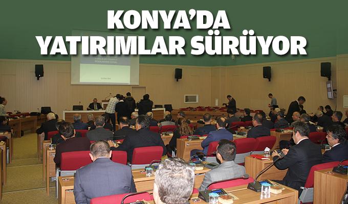 Konya'nın projelerinde son durum görüşüldü!