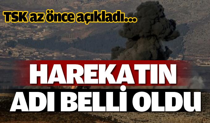 TSK açıkladı: Afrin harekatının adı belli oldu!