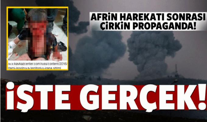 Afrin harekatı sonrası kara propaganda