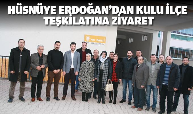Hüsnüye Erdoğan'dan Kulu ilçe teşkilatına ziyaret