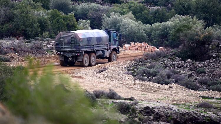 Afrin'de güvenli ilerleme hatları oluşturuldu