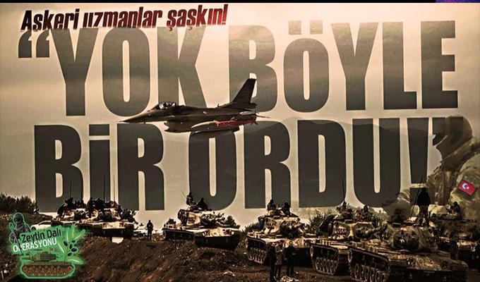 Dünyada Türk ordusunun bir benzeri daha yok!