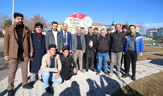 """Beyşehir Belediyesine """"Serhat Turak Parkı"""" teşekkürü"""