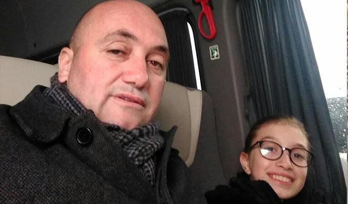 Demirel ve kızı Bozkır yolunda