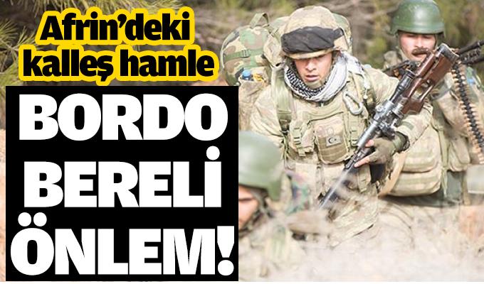 YPG'nin kallleş planına bordo bereli önlem!