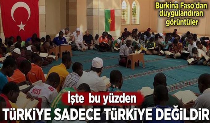 Burkina Faso'da Zeytin Dalı Harekatı için dua .