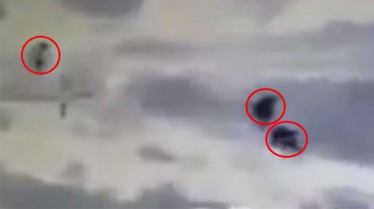Afrin'de teröristler böyle havaya uçuruldu
