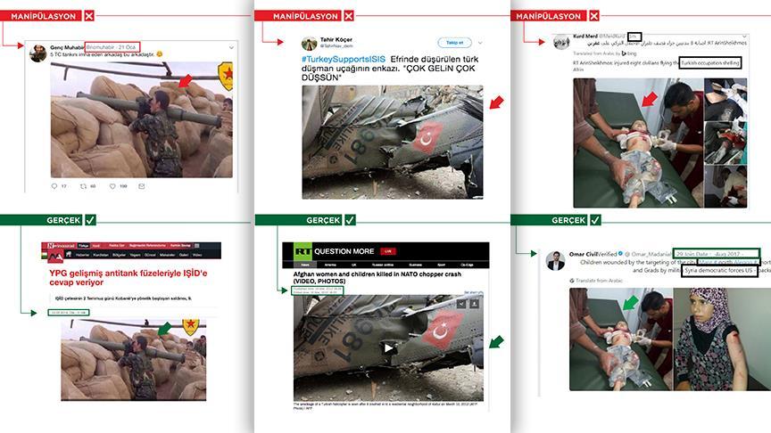 Terör yandaşlarından sosyal medyada üç yalan daha