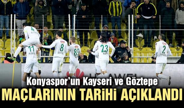 Konyaspor'un Kayseri ve Göztepe maçlarının tarihi açıklandı