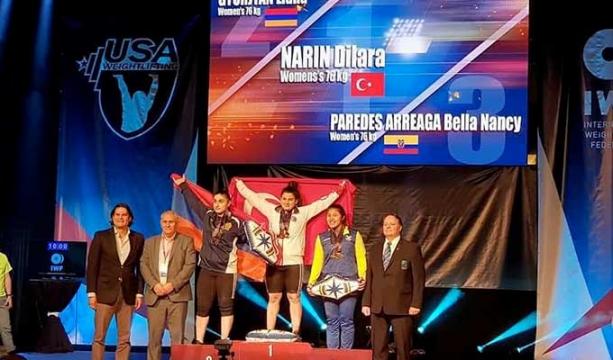 Konya Spor Lisesi'nden Halter Dünya Şampiyonluğuna