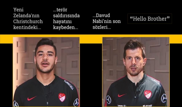 Milli futbolculardan 'Hello Brother' mesajı
