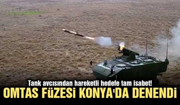 Tank avcısından hareketli hedefe tam isabet! OMTAS füzesi Konya'da denendi