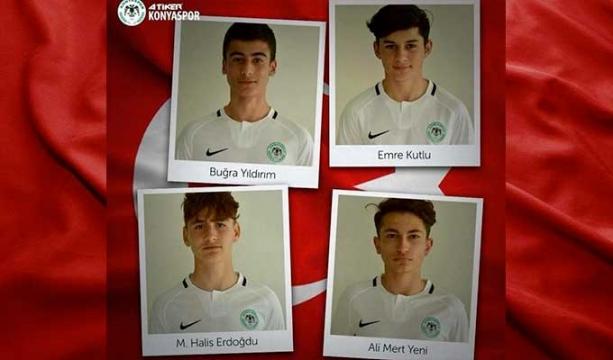 Konyasporlu 4 oyuncuya milli davet