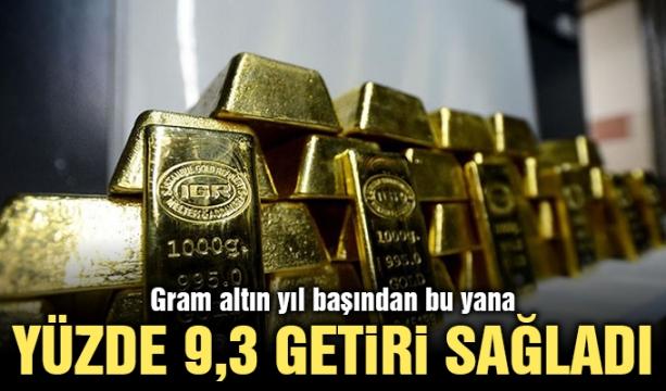 Gram altın yıl başından bu yana yüzde 9,3 getiri sağladı