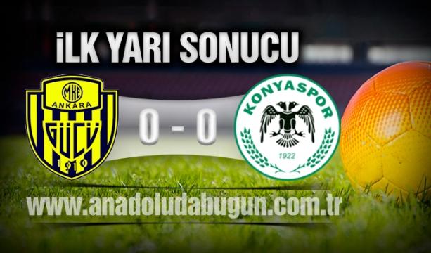 MKE Ankaragücü 0 - 0 Atiker Konyaspor İlkyarı Sonucu