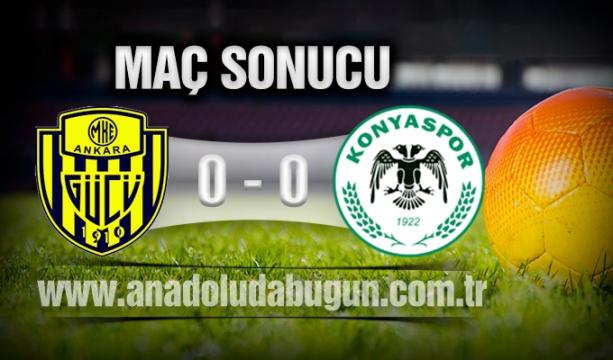 MKE Ankaragücü 0 - 0 Atiker Konyaspor Maç Sonucu