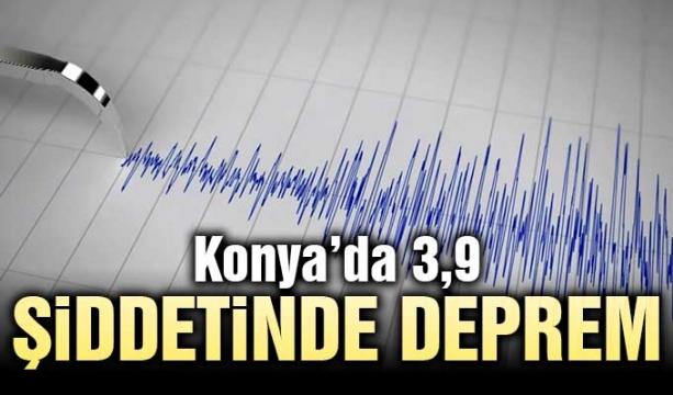 Konya'nın Seydişehir ilçesinde 3,7 büyüklüğünde deprem meydana geldi