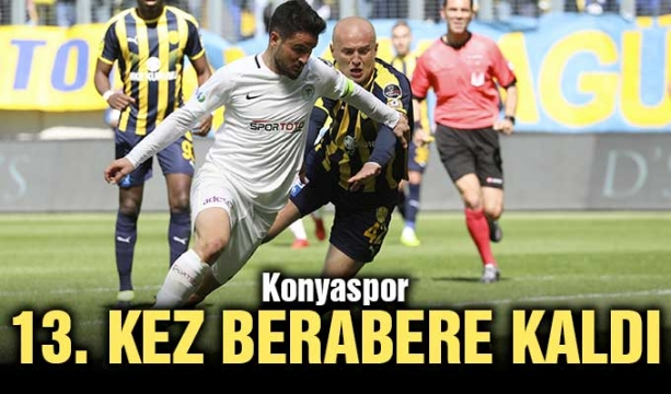 Konyaspor, 13. kez berabere kaldı