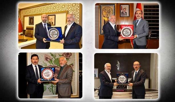 Topal ve üyelerinden Başkanlara hediye
