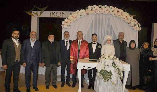 Ekrem Demirci oğlunu evlendirdi