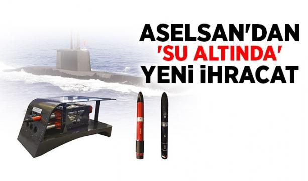 ASELSAN'dan 'su altında' yeni ihracat