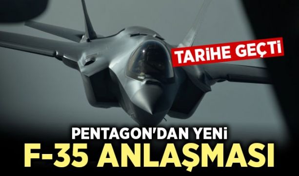 Pentagon'dan yeni F-35 anlaşması