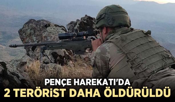 Pençe Harekatı'da 2 terörist daha öldürüldü