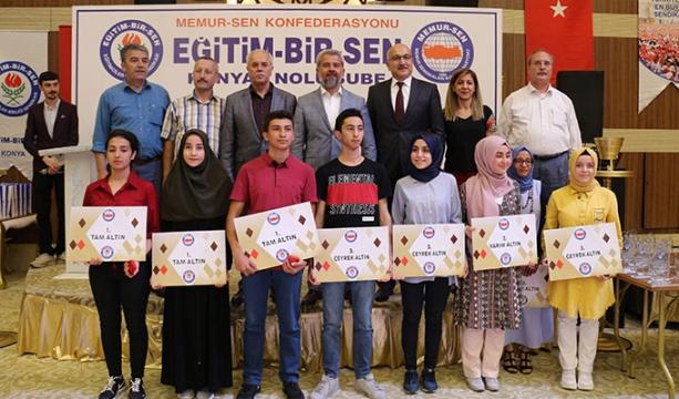Konya'da 'Bir Bilenle Bilge Nesil' yarışmasının ödülleri sahiplerini buldu