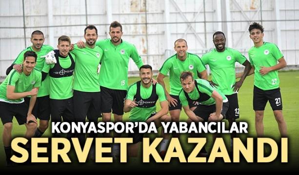 Konyaspor'da yabancılar servet kazandı