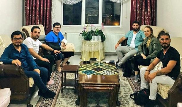 Çağla'ya gazetecilerden geçmiş olsun ziyareti