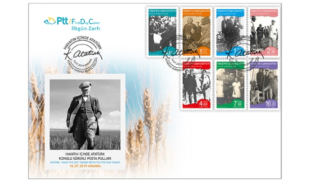 Ptt Aş'den Hayatın İçinde Atatürk Konulu Sürekli Posta Pulları
