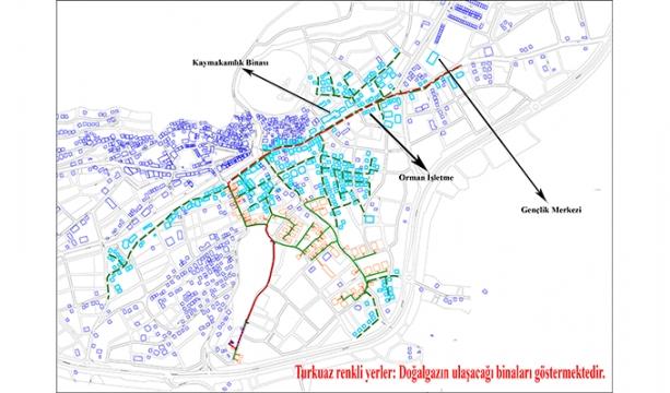 Bozkır'da doğal gaz servis ağı genişliyor