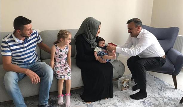 Başkan Oflaz, 'Hoşgeldin Bebek 'ziyaretlerine devam ediyor