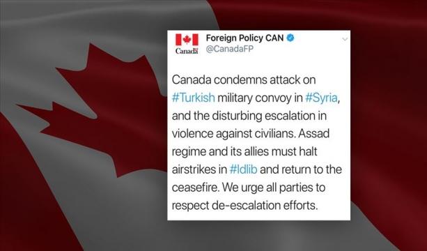 Kanada'dan İdlib'deki saldırıya kınama