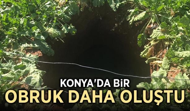 Konya'da bir obruk daha oluştu