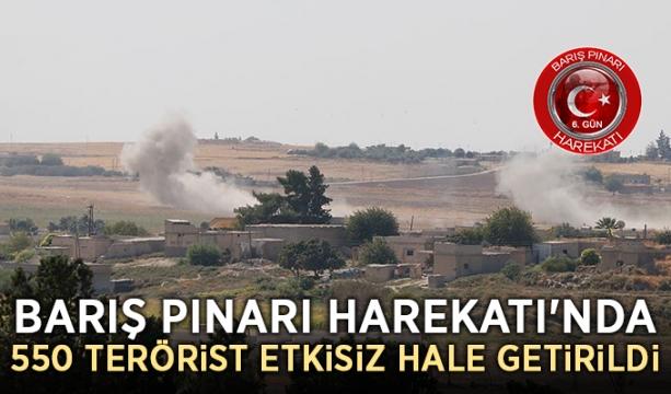 Barış Pınarı Harekatı'nda 550 terörist etkisiz hale getirildi