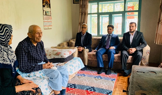 Kaymakam Erdoğan'dan Kore gazisi Mehmet Çoban'a ziyaret
