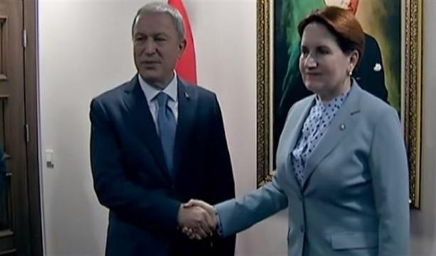 Milli Savunma Bakanı Akar, İyi Parti'yi ziyaret etti