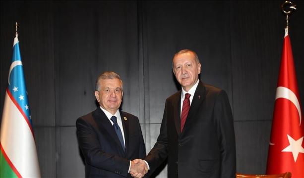 Erdoğan Nazarbayev ve Mirziyoyev bir araya geldi