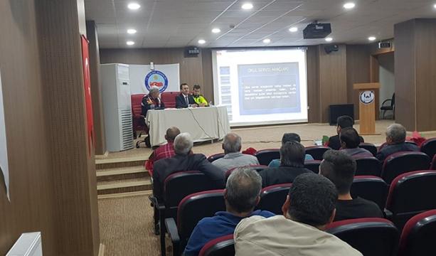 Yunak'ta Okul Servis Şoförlerine Eğitim